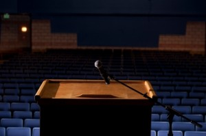 Podium-and-Empty-Seats