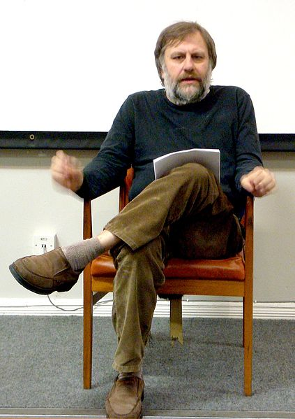 Slavoj Zizek lecturing in Liverpool